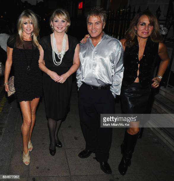 Shelley Preston Cheryl Baker Mike Nolan and Jay Aston of Bucks Fizz attend Living TV's 15th Birthday in Covent Garden on September 03 2008 in London...
