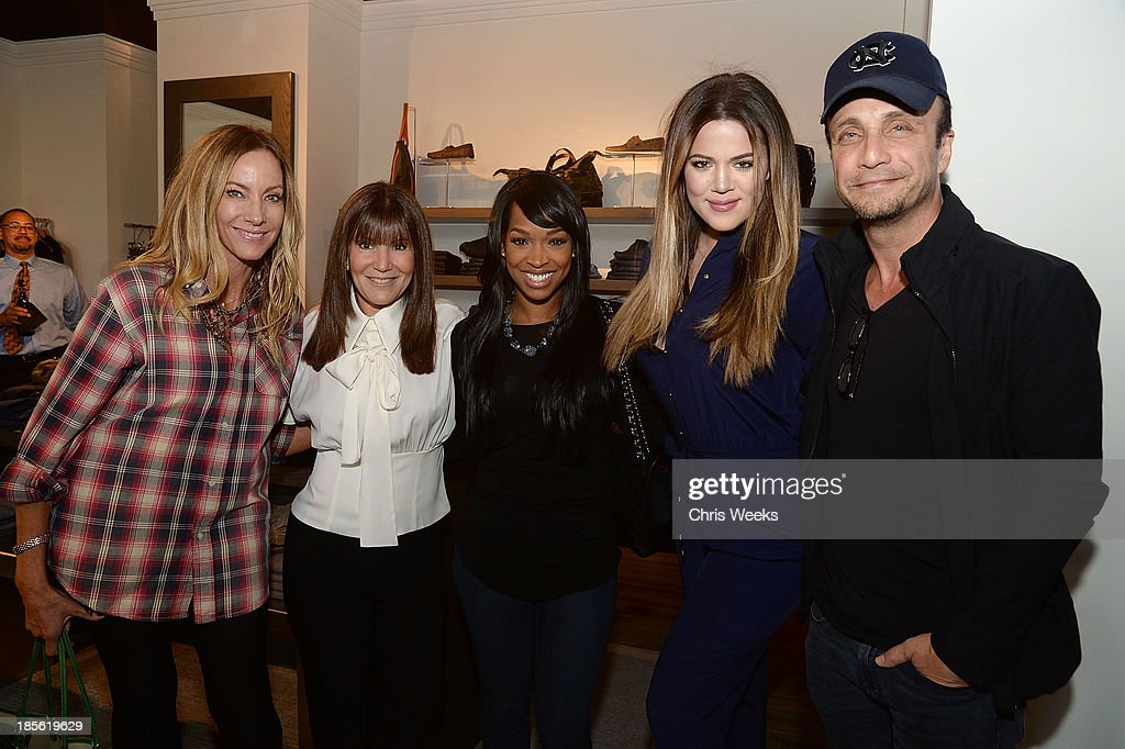 Shelli Azoff, Malika Haqq, reality television personality <a gi-track='captionPersonalityLinkClicked' href=/galleries/search?phrase=Khloe+Kardashian&family=editorial&specificpeople=3955023 ng-click='$event.stopPropagation()'>Khloe Kardashian</a> and Larry Rudolf attend the Scoop NYC event at Scoop NYC on October 22, 2013 in Beverly Hills, California.