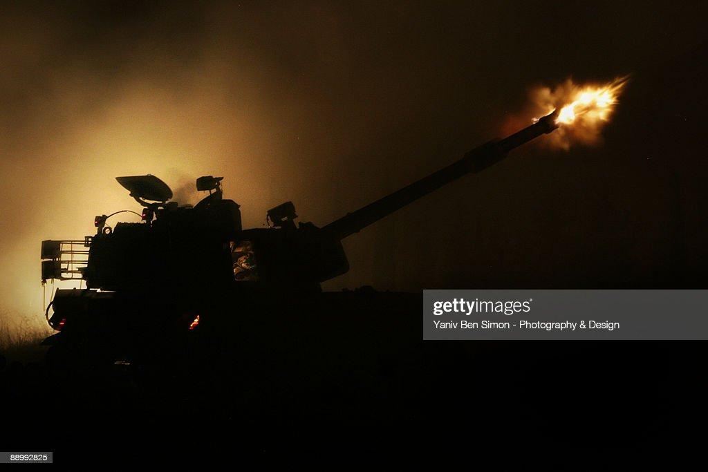 shelling at night