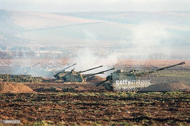 Shelling Grozny in Russia in December 1999