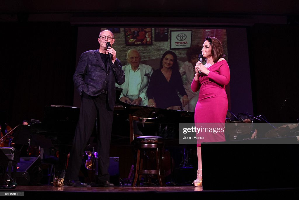 Shelly Berg and <a gi-track='captionPersonalityLinkClicked' href=/galleries/search?phrase=Gloria+Estefan&family=editorial&specificpeople=201703 ng-click='$event.stopPropagation()'>Gloria Estefan</a> perform at Festival Miami's 30th Anniversary Season Kick Off With <a gi-track='captionPersonalityLinkClicked' href=/galleries/search?phrase=Gloria+Estefan&family=editorial&specificpeople=201703 ng-click='$event.stopPropagation()'>Gloria Estefan</a> at Frost School of Music at the University of Miami Gusman Concert on October 1, 2013 in Coral Gables, Florida.