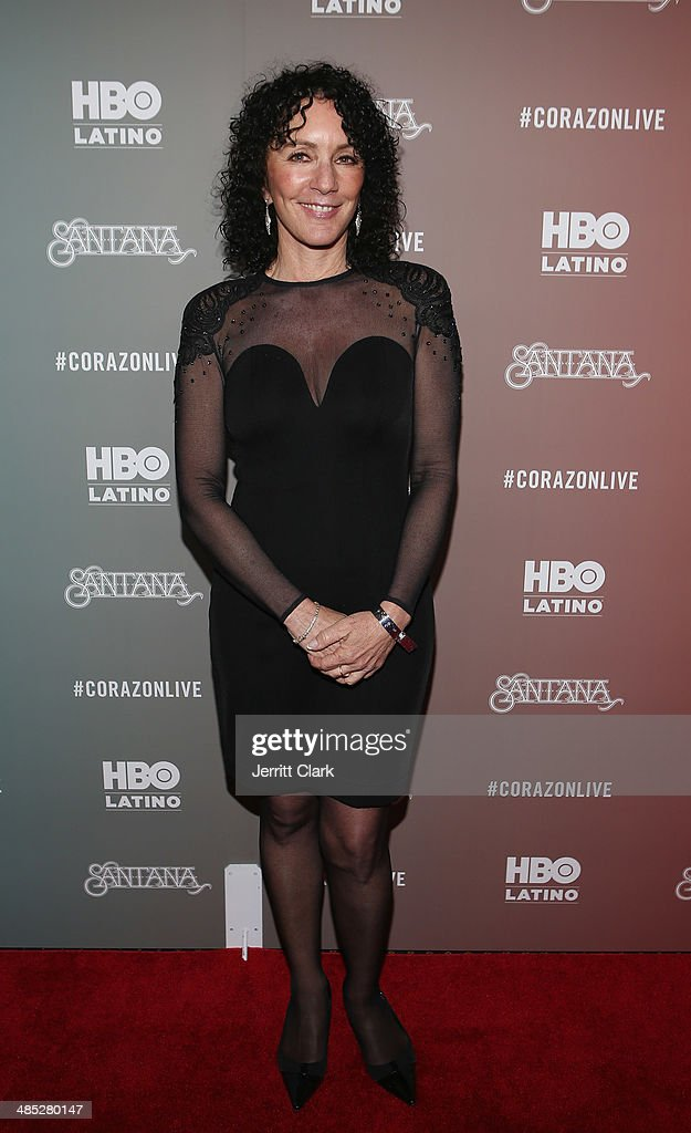 Shelly Brown of the Milagro Foundation attends the HBO Latino NYC Premiere of 'Santana: De Corazon' at Hudson Theatre on April 16, 2014 in New York City.