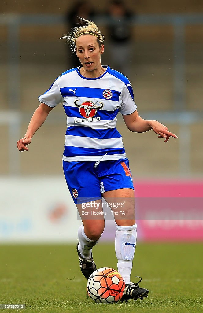 Shelly Cox of Reading in action during the WSL 1 match between Reading FC Women and Sunderland AFC Ladies on May 2, 2016 in High Wycombe, England.