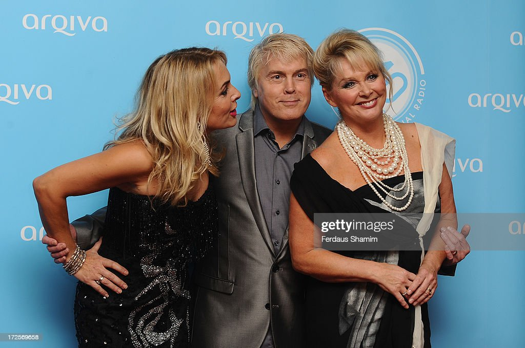 Shelly Preston, Mike Nolan and Cheryl Baker attend the Arqiva Commercial Radion Awards at Park Plaza Westminster Bridge Hotel on July 3, 2013 in London, England.