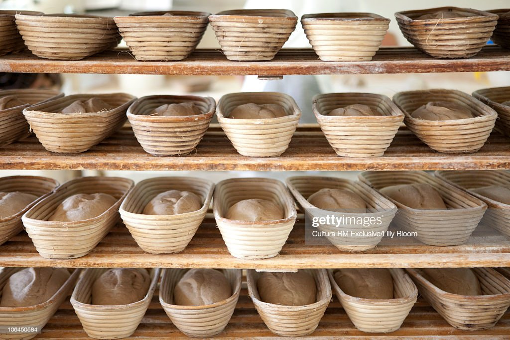 Shelve with bread : Stock Photo