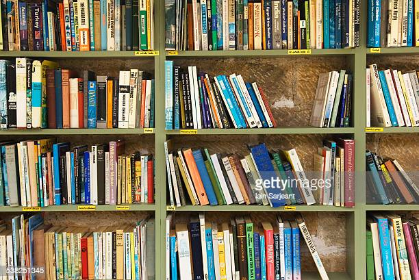 Shelves of books in a secondhand bookshop