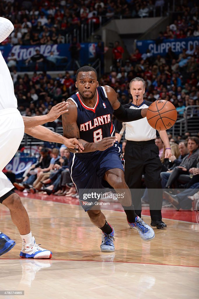 <a gi-track='captionPersonalityLinkClicked' href=/galleries/search?phrase=Shelvin+Mack&family=editorial&specificpeople=5767272 ng-click='$event.stopPropagation()'>Shelvin Mack</a> #8 of the Atlanta Hawks drives to the basket against the Los Angeles Clippers at Staples Center on March 8, 2014 in Los Angeles, California.