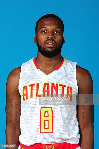 Shelvin Mack of the Atlanta Hawks poses for a photo during media day on September 28 2015 at Philips Arena in Atlanta Georgia NOTE TO USER User...