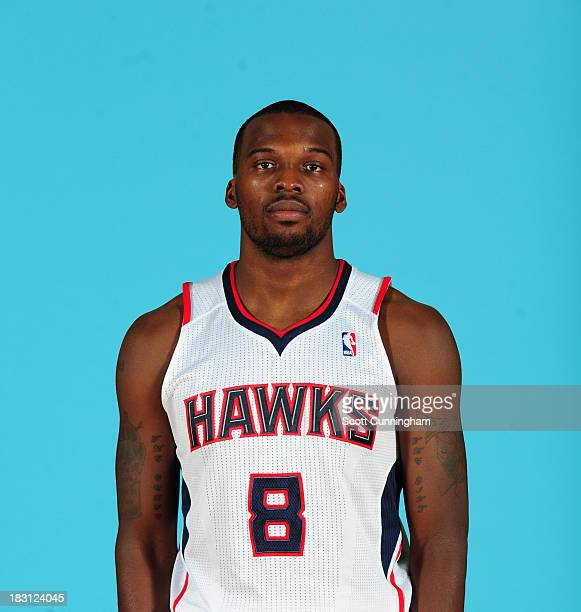 Shelvin Mack of the Atlanta Hawks poses for a photograph during NBA Media Day at Philips Arena on September 30 2013 in Atlanta Georgia NOTE TO USER...