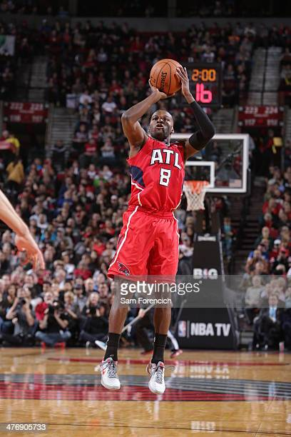 Shelvin Mack of the Atlanta Hawks shoots against the Portland Trail Blazers on March 5 2014 at the Moda Center Arena in Portland Oregon NOTE TO USER...