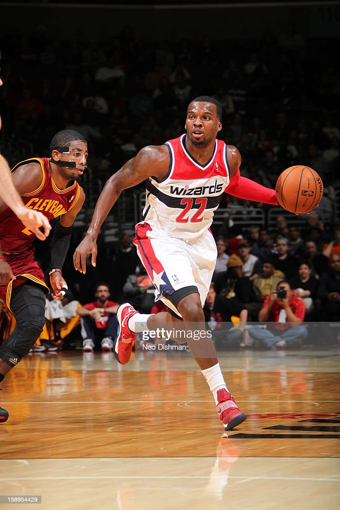 <a gi-track='captionPersonalityLinkClicked' href=/galleries/search?phrase=Shelvin+Mack&family=editorial&specificpeople=5767272 ng-click='$event.stopPropagation()'>Shelvin Mack</a> #22 of the Washington Wizards brings the ball up court against the Cleveland Cavaliers at the Verizon Center on December 26, 2012 in Washington, DC.