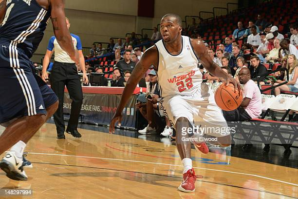 Shelvin Mack of the Washington Wizards looks to drive against the Atlanta Hawks during NBA Summer League on July 13 2012 at Cox Pavilion in Las Vegas...