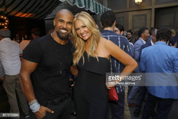 Shemar Moore and Nancy O'Dell at the CBS Summer soirée held on August 1 2017 in Los Angeles CA
