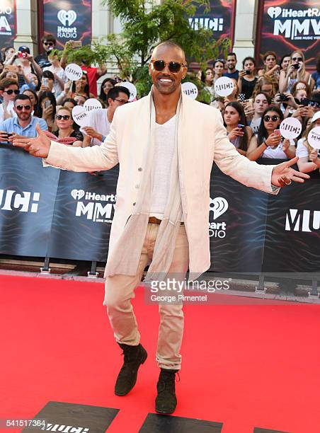 Shemar Moore arrives at the 2016 iHeartRADIO MuchMusic Video Awards at MuchMusic HQ on June 19th 2016 in Toronto Canada