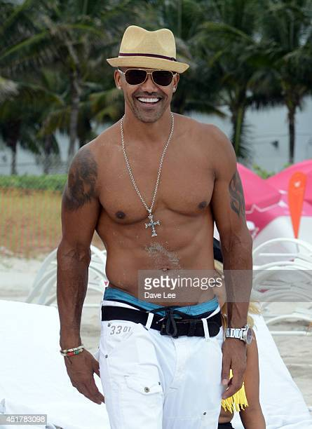 Shemar Moore is seen partying on the beach on July 6 2014 in Miami Florida