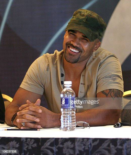 Shemar Moore of 'Criminal Minds' during CBS Winter 2007 TCA Press Tour in Los Angeles California United States