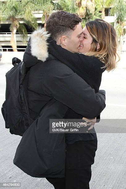 Shenae Grimes and Josh Beech seen at LAX on February 23 2015 in Los Angeles California