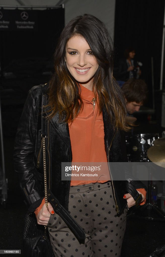 <a gi-track='captionPersonalityLinkClicked' href=/galleries/search?phrase=Shenae+Grimes&family=editorial&specificpeople=2153141 ng-click='$event.stopPropagation()'>Shenae Grimes</a> attends Rebecca Minkoff during Fall 2013 Mercedes-Benz Fashion Week at The Theatre at Lincoln Center on February 8, 2013 in New York City.