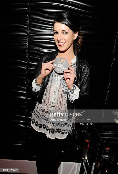 Shenae Grimes attends the Beck's Sapphire Launch Event on January 17 2013 in Beverly Hills California