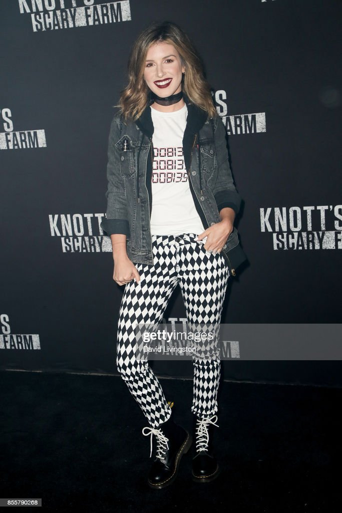 Shenae Grimes attends the Knott's Scary Farm and Instagram's Celebrity Night at Knott's Berry Farm on September 29, 2017 in Buena Park, California.