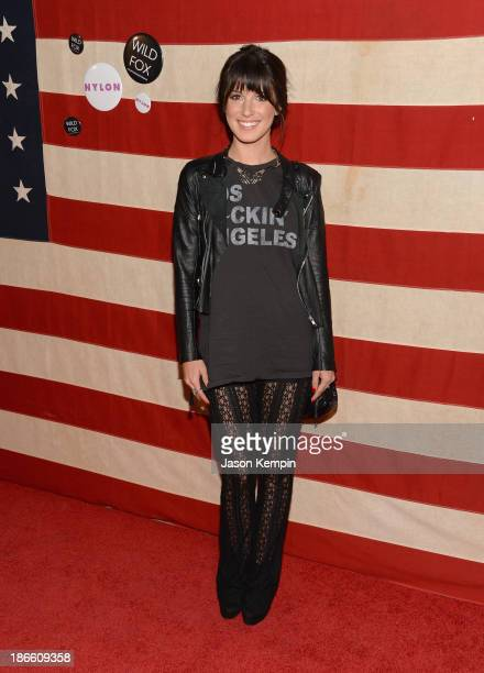 Shenae Grimes attends the Nylon Magazine Celebration of 'America The Issue' With Lana Del Rey And Marvin ScottJarrett at Sunset Marquis Hotel Villas...