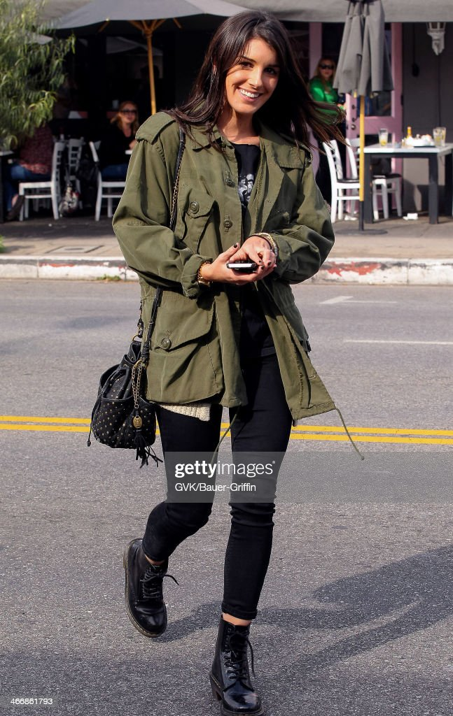 Shenae Grimes is seen on February 04, 2014 in Los Angeles, California.