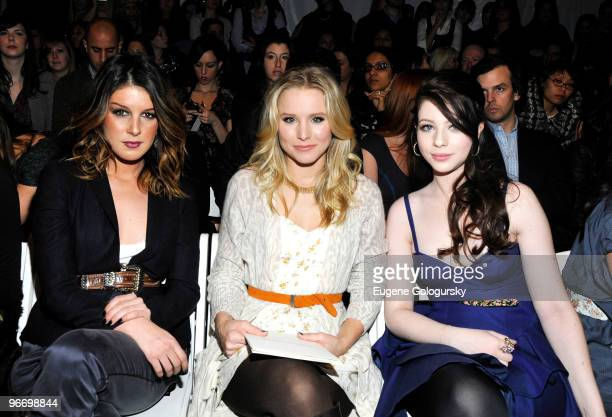 Shenae Grimes Kristen Bell and Michelle Trachtenberg attend The Rebecca Taylor Fall 2010 during MercedesBenz Fashion Week at Bryant Park on February...