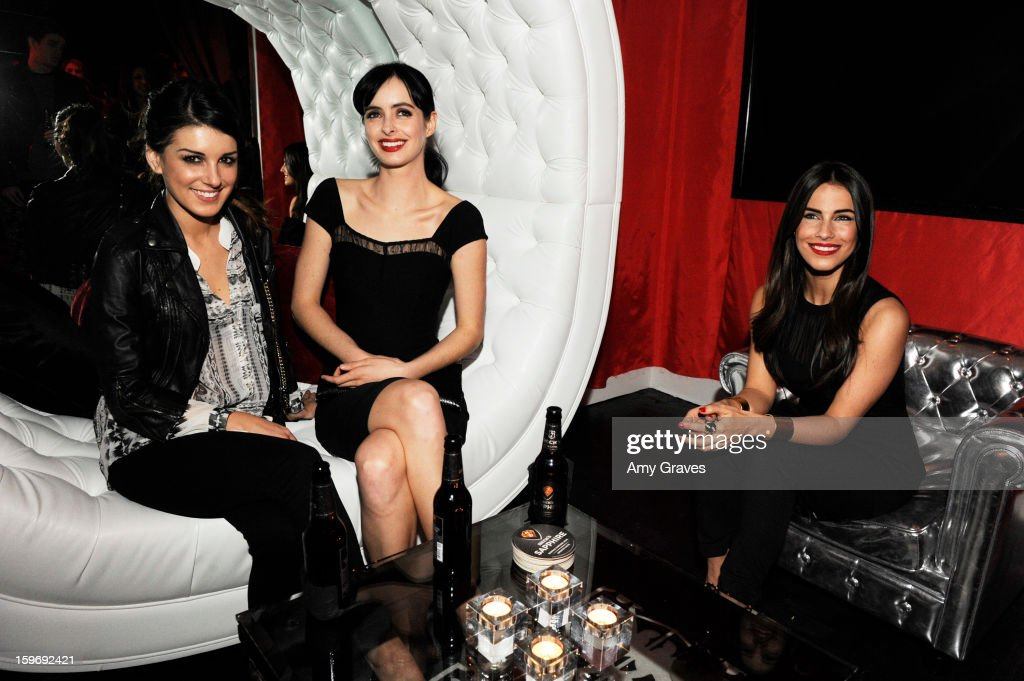 Shenae Grimes, Krysten Ritter and Jessica Lowndes attend the Beck's Sapphire Launch Event on January 17, 2013 in Beverly Hills, California.