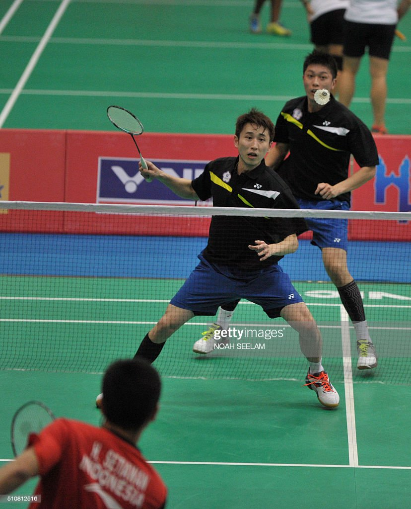 Sheng Mu Lee front and Chia Hsin Tsai of Taiwan play against