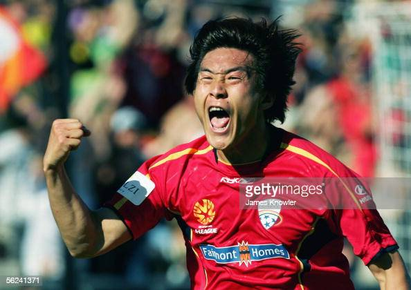 Shengqing Qu of United in action during the round 13 ALeague match between Adelaide United and the New Zealand Knights at Hindmarsh Stadium November...