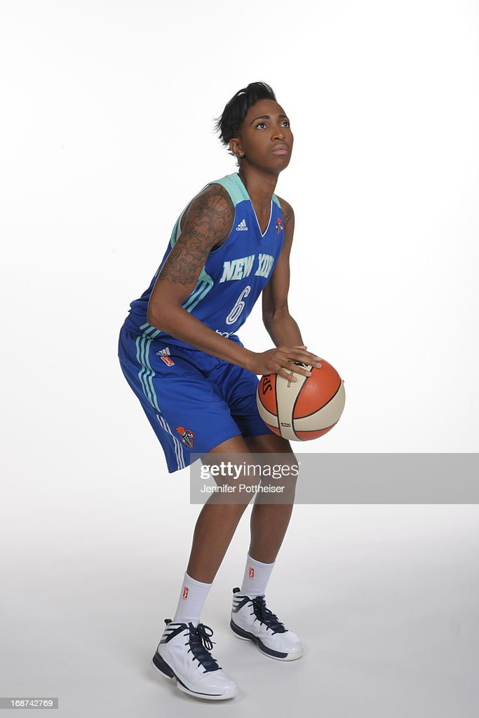 Shenneika Smith #6 of the New York Liberty poses for a photo during WNBA Media Day on May 13, 2013 at the Madison Square Garden Training Facility in Tarrytown, New York.