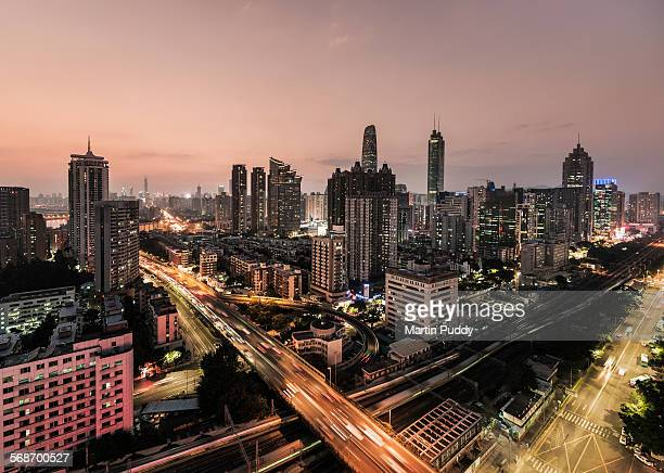 Shenzen skyline at dusk