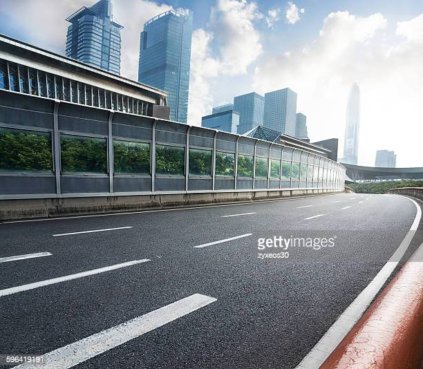 Shenzhen, China, cityscape and road