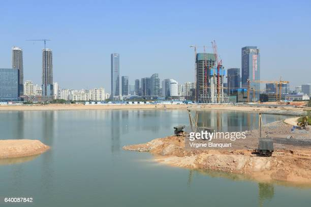 Shenzhen cityscape Development of houhai area, Nanshan District, China. 15 April 2015