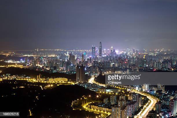 Shenzhen skyline night view