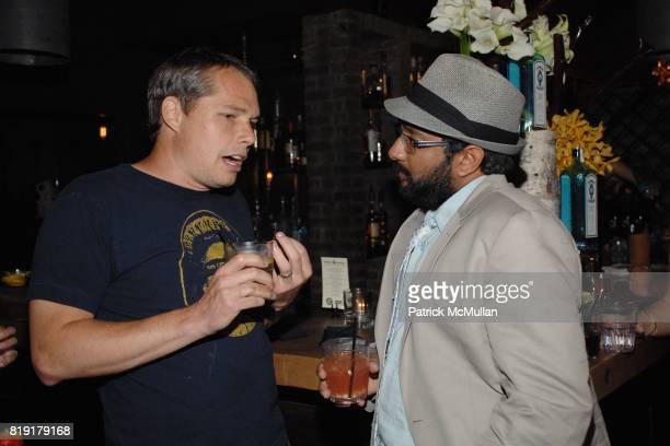 Shepard Fairey Samir Gupta attend The Supper Club Shepard Fairey's SNO host a Bombay Sapphire Tea Party at The Tea Room on July 20 2010 in Hollywood...