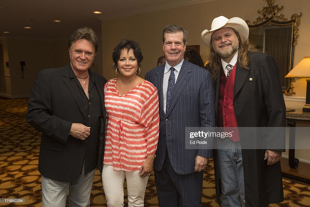 T.G. Shephard, Kelly Lang, Karl Dean and Guy Gilchrist attends AnimalFair.com Bark Breakfast Benefiting K9s For Warriors at the Loews Vanderbilt Hotel on July 24, 2013 in Nashville, Tennessee.