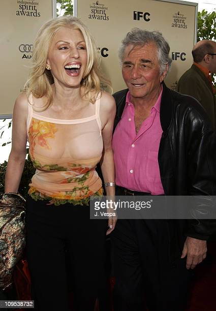 Shera Danese Peter Falk during The 17th Annual IFP/West Independent Spirit Awards Arrivals at Santa Monica Beach in Santa Monica California United...
