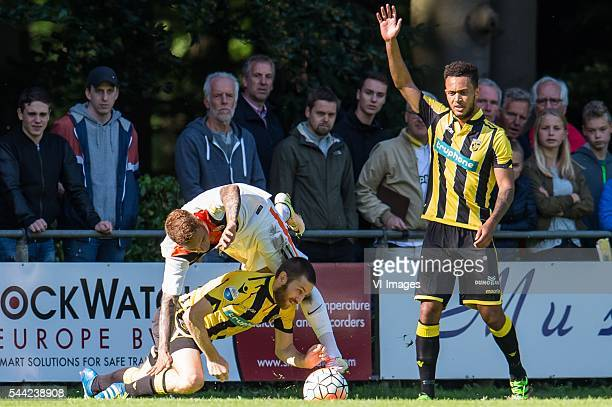 Sheran Yeini of Vitesse Marlos Romero Bonfim of Shakhtar Donetsk Lewis Baker of Vitesse during the preseason match between Vitesse Arnhem and...