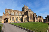 Sherborne Abbey in Dorset, UK.