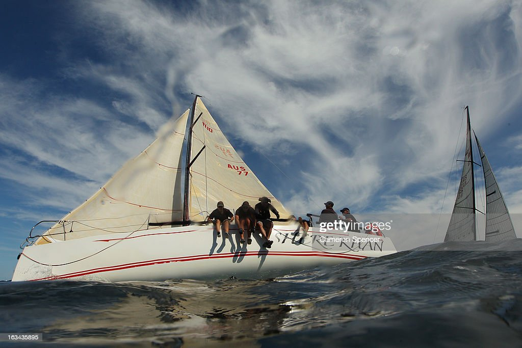 'Shere Khan' races during the Sydney Regatta on Sydney Harbour, on March 10, 2013 in Sydney, Australia.