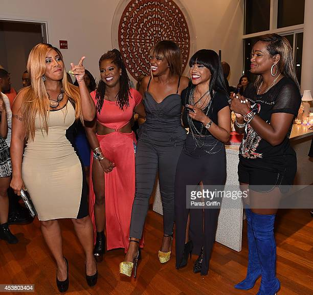 Sheree Buchanan Torrei Hart Christina Johnson Monyetta Shaw and Tameka Raymond attend the Atlanta Exes Private Premiere Viewing Party at 10 Terminus...