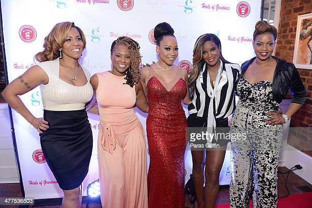 Sheree Buchanan Torrei Hart Monyetta Shaw Tameka Raymond and Christina Johnson attend the 2014 Heels Of Greatness Dinner at The Estate at Pedimont on...