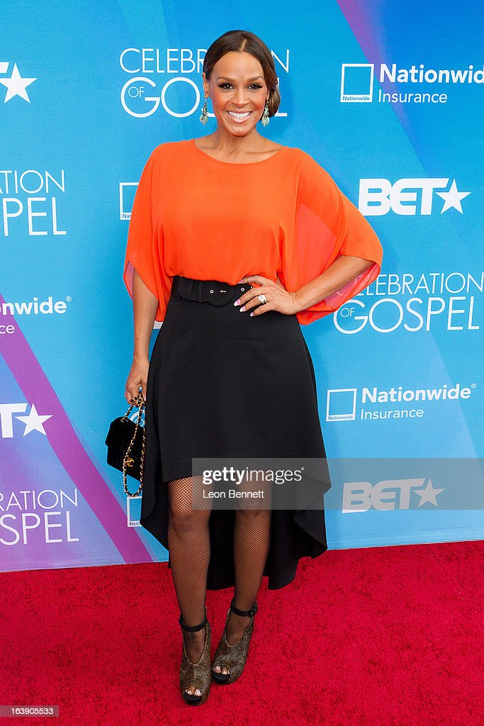 Sheree Fletcher arrives at the BET Network's 13th Annual 'Celebration of Gospel' at Orpheum Theatre on March 16, 2013 in Los Angeles, California.