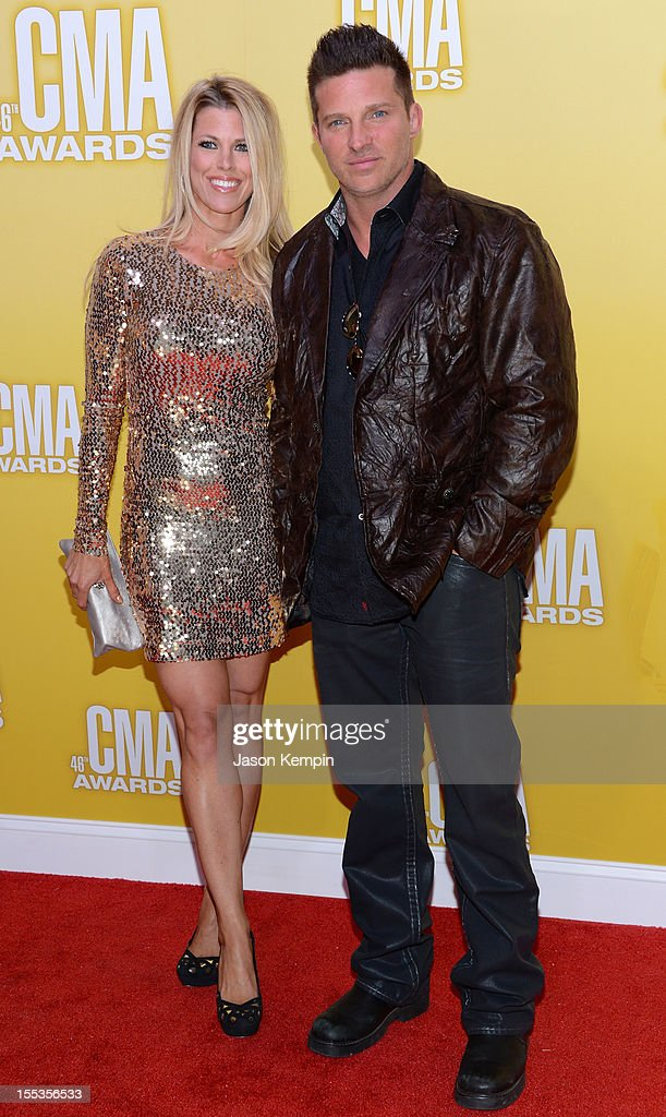 Sheree Gustin and Steve Burton attend the 46th annual CMA Awards at the Bridgestone Arena on November 1, 2012 in Nashville, Tennessee.