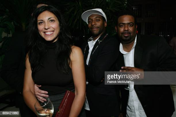 Sheree Hovsepian Jacko Sims and Terry Miles attend the After Party for Dennis Hopper's 'Signs of The Times' Opening at Indochine on September 12 2009...