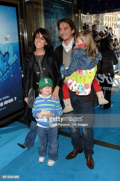 Sheree Murphy husband Harry Kewell and daughter Ruby and son Taylor arrive at the premiere of Ice Age 2 at Empire Cinema London Sunday April 2 2006...
