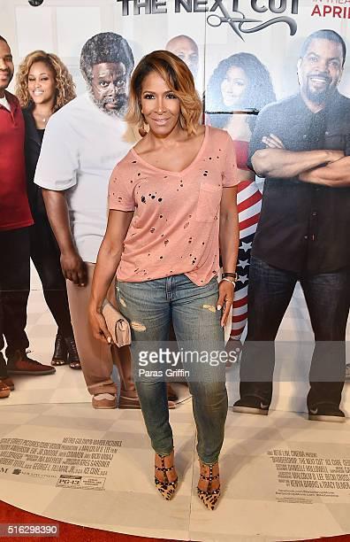 Sheree Whitfield attends 'Barbershop The Next Cut' advanced Atlanta VIP screening at Regal Atlantic Station on March 17 2016 in Atlanta Georgia