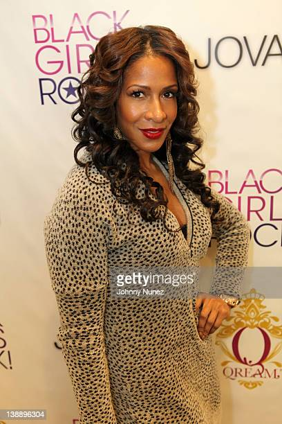 Sheree Whitfield visits the Black Girls Rock Red Carpet Beauty Suite at SLS Hotel on February 12 2012 in Beverly Hills California