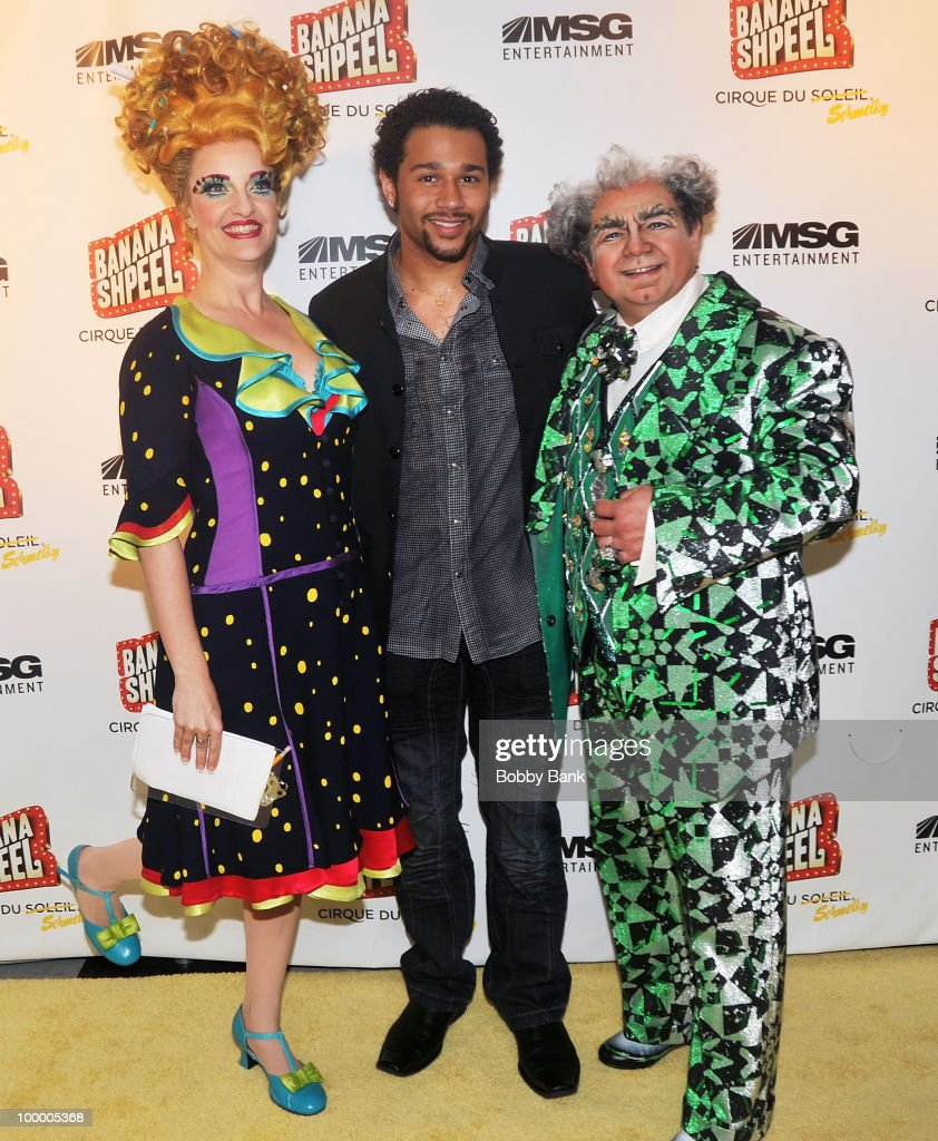Shereen Hickman, Corbin Bleu and Danny Rutigliano attend the opening night of Cirque du Soleil's 'Banana Shpeel' at the Beacon Theatre on May 19, 2010 in New York City.